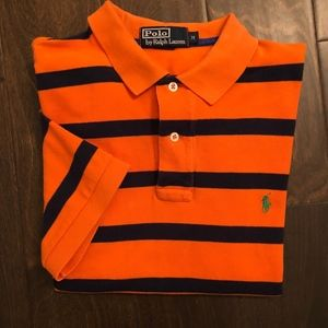 Polo Ralph Lauren Orange & Blue SS Polo